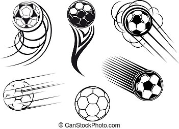 Football and soccer symbols and mascots - Football and...