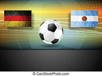 football, arrière-plan., conception, allemagne, argentine, football
