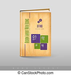 football, astratto, moderno, book., tema, opuscolo