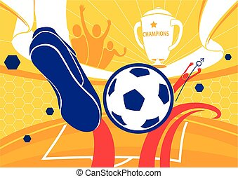 Football background championship vector illustration