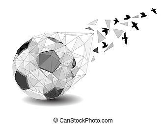 football background with bird