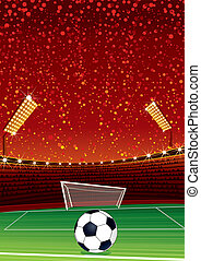 Soccer Stadium - Football Background with Large Soccer...