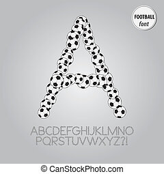 Football Ball Alphabet Vector