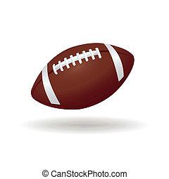 football ball - abstract football ball with shadow effect on...