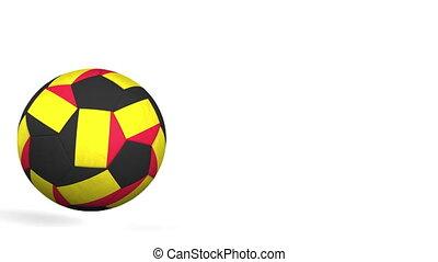 Football ball featuring flags of Belgium