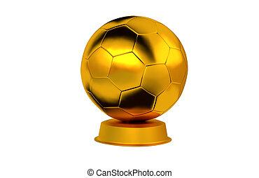 Football ball Golden Trophy