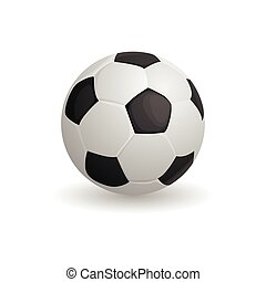 Football ball icon, cartoon style