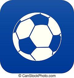 Football ball icon digital blue