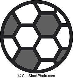 Football ball icon. Flat line