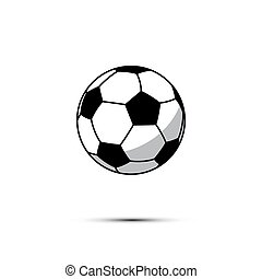 Football ball icon. Vector soccer ball isolated on white background.