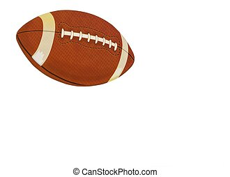 Football Ball on a White Card