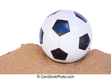 football ball in sand
