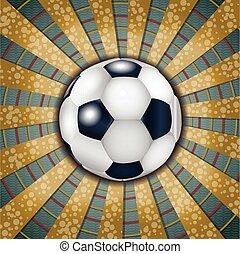 Football ball on metallic background.
