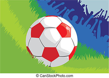 football ball on the grass
