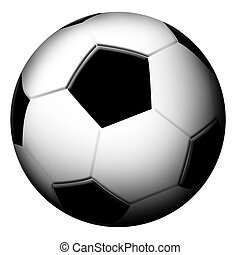 Football ball on white background