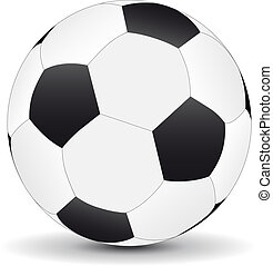 Realistic football isolated on white background