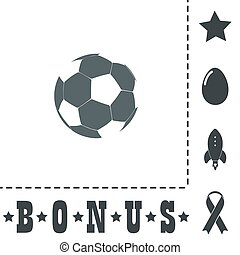 Football ball - soccer flat icon