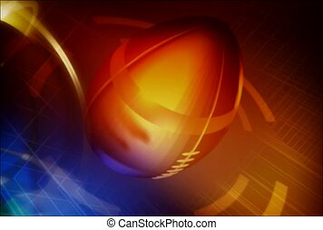football, ball, spin