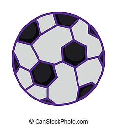 football ball sport toy on white background