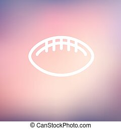 Football ball thin line icon