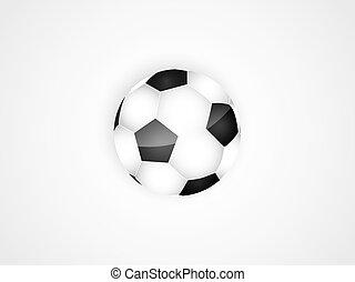 Football ball. Vector illustration.
