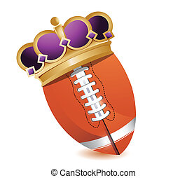 Football ball with a crown