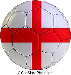 Football ball with England flag