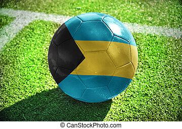 football ball with the national flag of bahamas