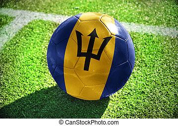 football ball with the national flag of barbados