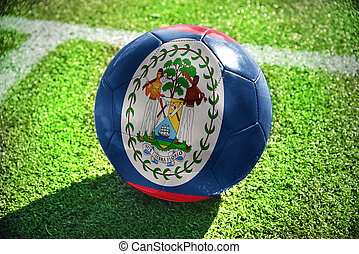 football ball with the national flag of belize