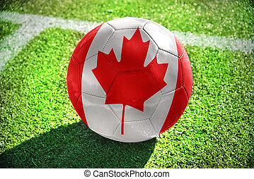 football ball with the national flag of canada