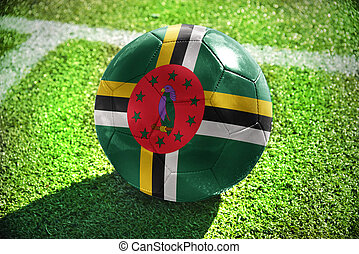 football ball with the national flag of dominica
