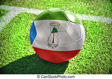 football ball with the national flag of equatorial guinea