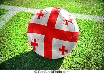 football ball with the national flag of Georgia on the field