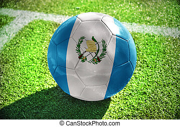 football ball with the national flag of guatemala