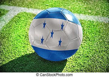 football ball with the national flag of honduras