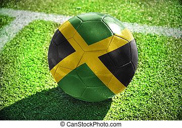 football ball with the national flag of jamaica