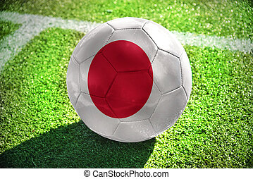 football ball with the national flag of japan