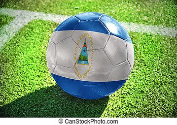 football ball with the national flag of nicaragua