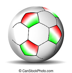 football, balle, italien