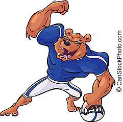 football bear mascot victory