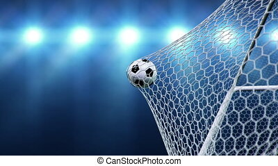 football, beautifully, 3d, football, moment, grille, 4k, ...