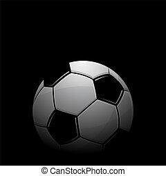 Football black background