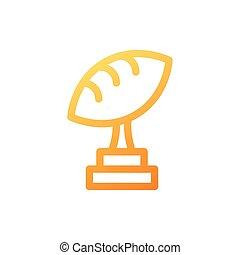 football, blanc, trophée, américain, fond