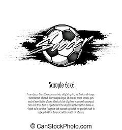 football, blots, balle, fond