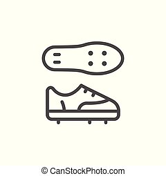 Football boots line icon