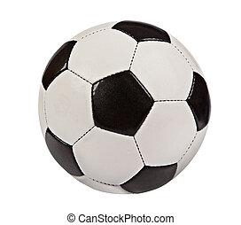 football, boule blanche, isolé, fond