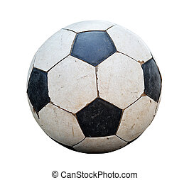 football, boule blanche, sale, fond
