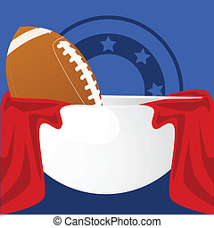 Football bowl - Illustration of an American football inside...