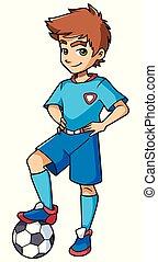 Football Boy Standing